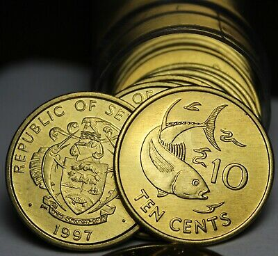 KM48.2 Seychelles 1997 10 Cents Uncirculated