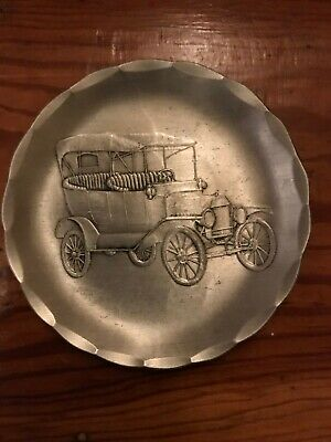 Wendell August Forge Old Car Aluminum Coaster Older 3 1/2 inch size
