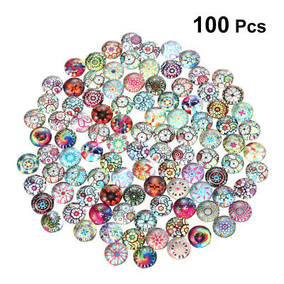 100pcs Delicate Fashion 8 mm Glass Cabochon Half Round Crafts for Jewelry Making