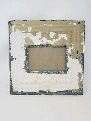 "Vintage Early 1900's 11"" x 11"" Antique Ceiling Tile Picture Frame"