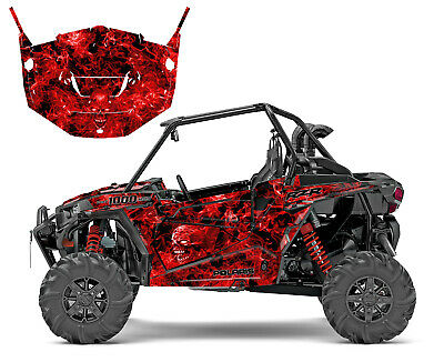 2013 -2018 Polaris RZR 1000 XP Turbo Graphics with Door Wrap Kit Zombie Skull