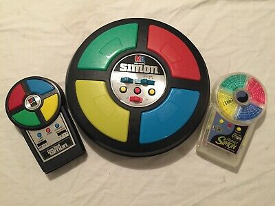 VINTAGE 1979 Milton Bradley SIMON Electronic Game + POCKET SIMON and PS 2