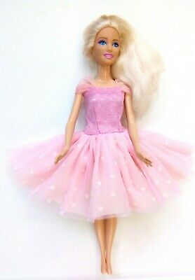 New Barbie doll clothes outfit princess wedding dress gown pink party gown.
