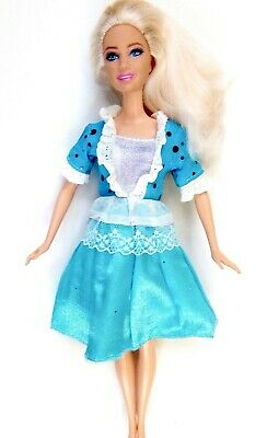 New Barbie doll clothes outfit princess wedding dress gown blue party gown.
