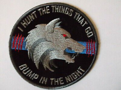 Thin Blue Line Bump In The Night Wolf Patch