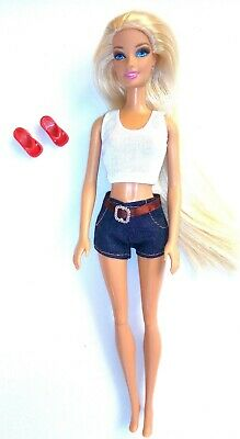 Brand new barbie doll clothes clothing outfit casual summer denim shorts & top