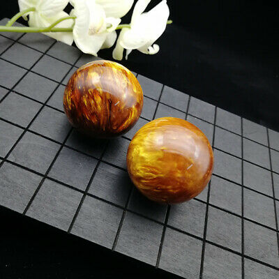 2pcs Genuine Golden Black Coral Sea Willow cure the handball Ball 50MM
