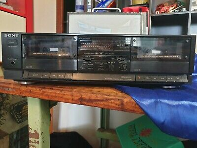 Sony dual tape deck works  but slow