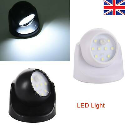 360° Sensor Security LED Light With Battery Power Motion Garden Outdoor Indoor