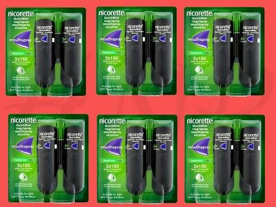 Nicorette QuickMist 1mg Mouthspray Freshmint 2 x 150 Sprays 6 pack Exp - 06/2021