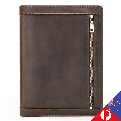 Vintage Large Capacity Multifunctional Genuine Leather iPad Pro Padfolio