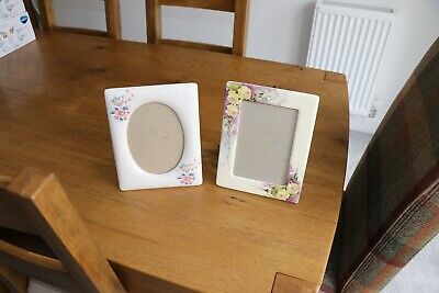 Two Quality Pottery Picture Frames 23 X 18 Cm 1 Oblong 1 Oval Insert
