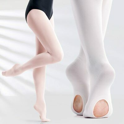 Soft Microfiber Convertible Ballet Dance Tights For Girls Nude White Kids Tights