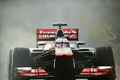 Formula 1 ~ Jenson Button ~ SIGNED PHOTO 12X8 WITH COA