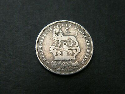 1828 George IV 4th Silver Sixpence Coin