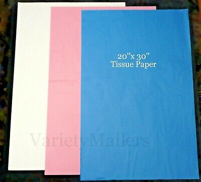 60 Large Sheets of Tissue Paper 20x30  ~ 3 Colors Matte Finish ~