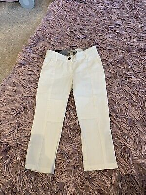 Genuine BURBERRY White Pants Trousers Girls Age 4