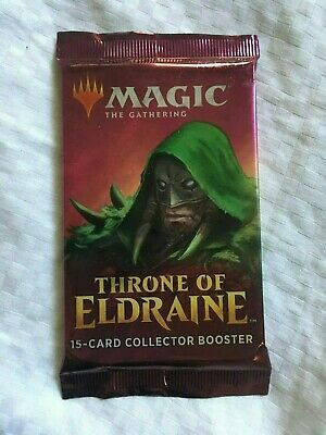 Magic the Gathering MTG THRONE of ELDRAINE Collector's Booster Pack, Sealed