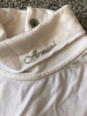 Beautiful baby girls Age 2 Armani Junior White Roll Neck top