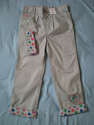 M&Co Girl Summer Trousers Size 5-6 years 100% Cotton