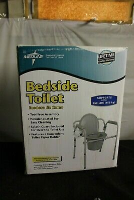 Medline Guardian Commode Toilet Seat/ Safety Rails NEW UP TO  350 LB
