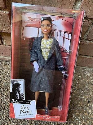 NIB Barbie Signature ROSA PARKS Inspiring Women Series Doll IN HAND