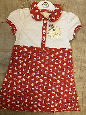 Little bird By Jools Oliver girls Age 2-3 Years Red Floral dress BNWT 🌈
