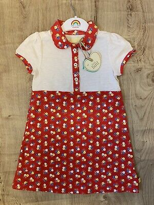 Little bird By Jools Oliver girls Age 3-4 Years Red Floral dress BNWT 🌈