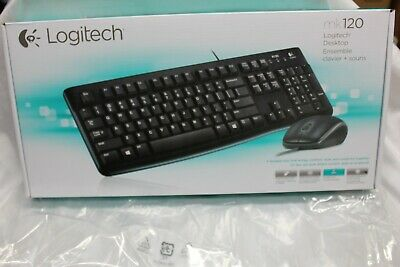 Logitech MK120 Keyboard and Mouse Desktop Wired USB Black Keyboard - US Layout