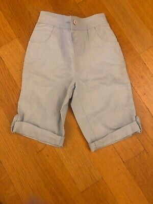 Girls Little White Company Pale Blue Cotton Trousers - Age 9-12 Months