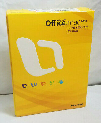 Microsoft Office Mac 2008 Home & Student Edition Complete In Box 3 Product Keys