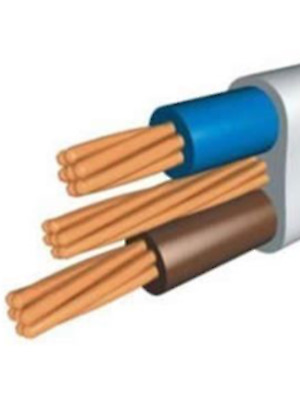 COOKER CABLE 10MM TWIN AND EARTH 6242Y PVC GREY CABLE SHOWER PER 15 METRES