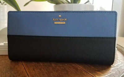Kate Spade NY Tile Blue/Black Cameron Street Lacey Wallet just gorgeous ! BNWT!