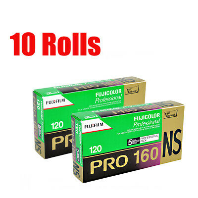 10 Rolls Fuji Fujifilm Pro 160NS 120 Color Print Professional Film Fresh 2021