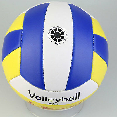 Hot Good Student Volleyball Faux Leather Match Training Ball THickened Size -PN