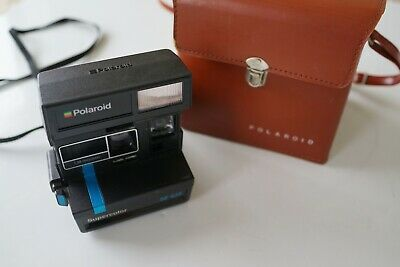 polaroid supercolor 'se 635' instant camera…bonus vintage case…see description..