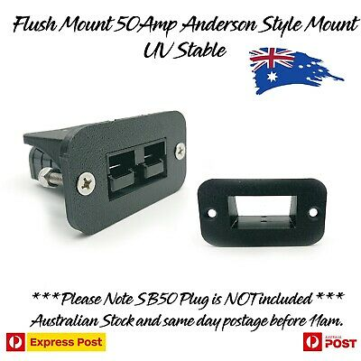 Flush Mount 50Amp Anderson Plug Mount Mounting Bracket Inc all Mounting Bolts