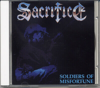 """Sacrifice """"Soldiers Of Misfortune"""" 1990, CD"""