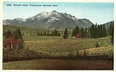 Electric Peak,Yellowstone National Park,Highest Mountain in the Park,Postcard A7