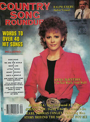 Country Song Roundup Magazine Sept 1985 - Reba McEntire - No Label - VG