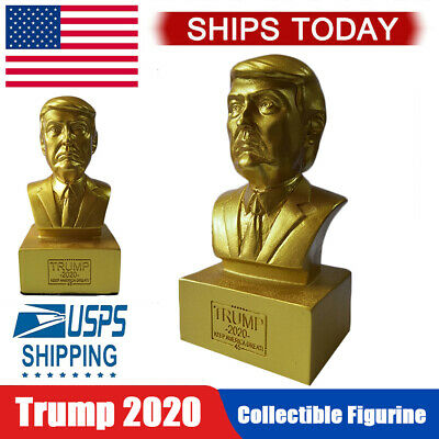 US President Donald J Trump Gold Bust 4.5 Inches Tall Collectible Figurine 2020