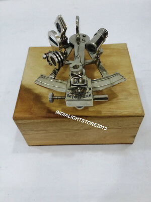 Antique Brass Sextant Nautical Maritime Astrolabe Collectible Gift Sextant