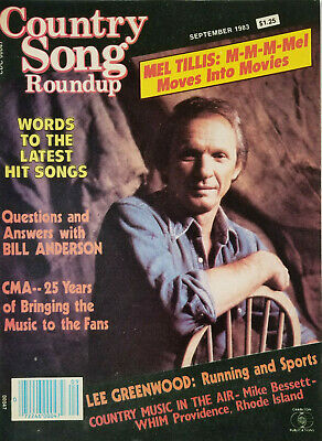 Country Song Roundup Sept 1983 Vtg Magazine Mel Tillis - Lee Greenwood No Label