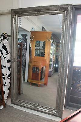 A Stunning Very Large Silver Framed Wall Mirror 2.1m x 1.2m