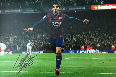 Luis Suarez ~ Barcelona ~ SIGNED PHOTO 12X8 WITH COA
