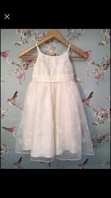 Girls marks And Spencer Ivory Dress Age 5-6 Years With Matching Shrug