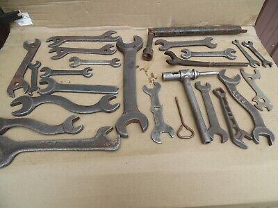 Old  Wrench / Tool  Lot  Vintage Tractor Hit  Miss Gas Engine  Black Smith Tool