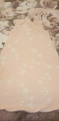 Next Baby Sleeping Bag 6-18 Months 2.5 Tog Pink With Stars