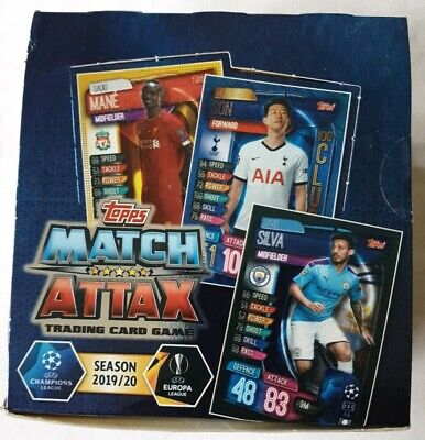 2019/20 Topps Match Attax UEFA Championship & Europa League Trading Cards  box