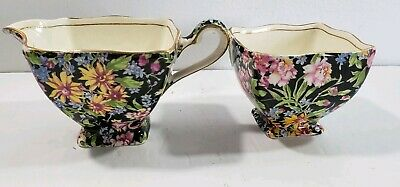 Vintage Royal Winton Grimwades Nantwich Chintz  Creamer and Open Sugar